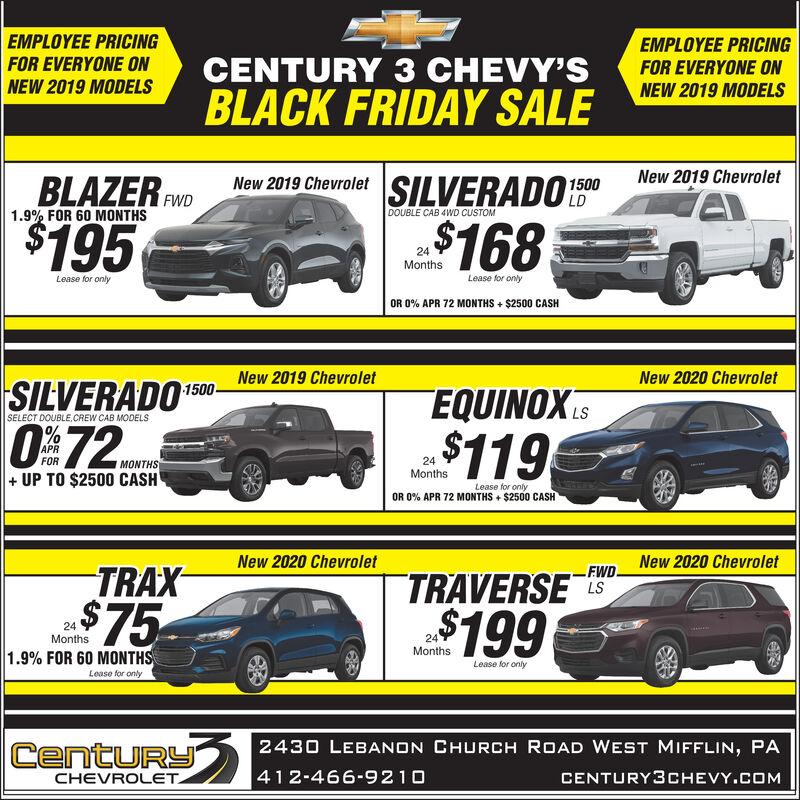 Sunday November 17 2019 Ad Century 3 Chevrolet Observer Reporter