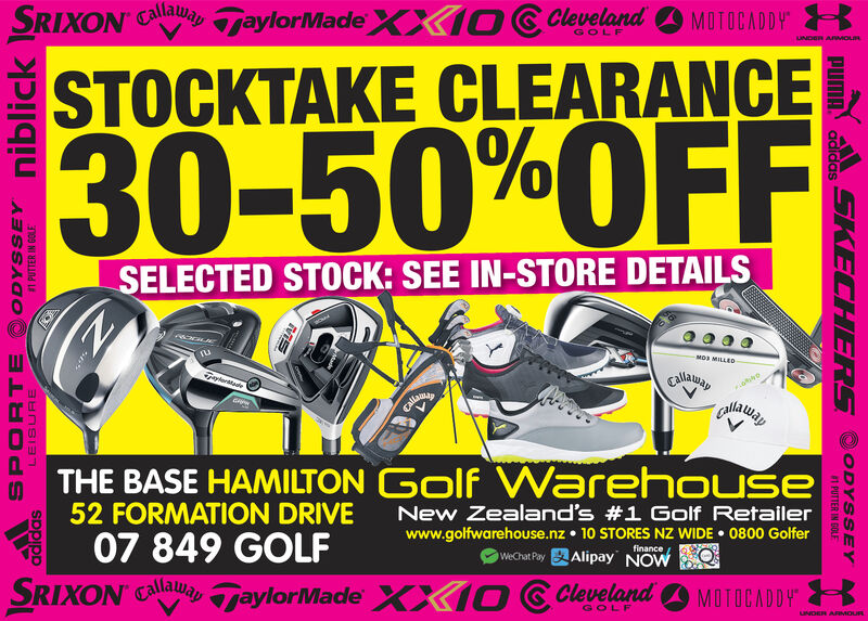 Friday March 13 2020 Ad Golf Warehouse Hamilton Stuff Main