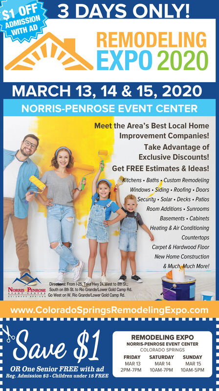 Thursday March 12 2020 Ad Colorado Springs Remodeling Expo The Gazette