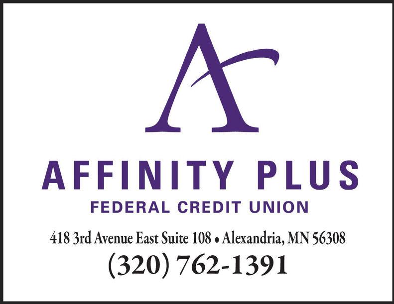 Tuesday March 31 2020 Ad Affinity Plus Federal Credit Union Alexandria Echo Press