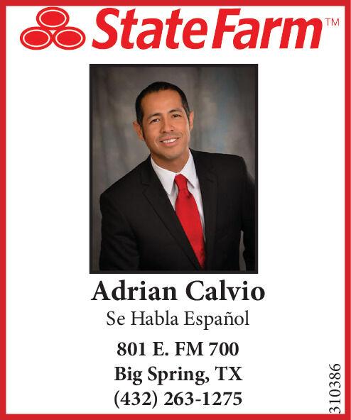 Monday June 1 2020 Ad Statefarm Adrian Calvio Big Spring Herald