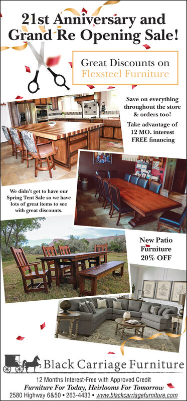 Carriage Furniture Montrose Daily, Black Carriage Furniture Grand Junction