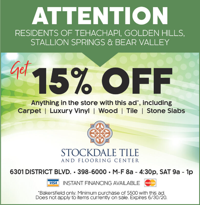 Wednesday June 17 2020 Ad Stockdale Tile Bakersfield