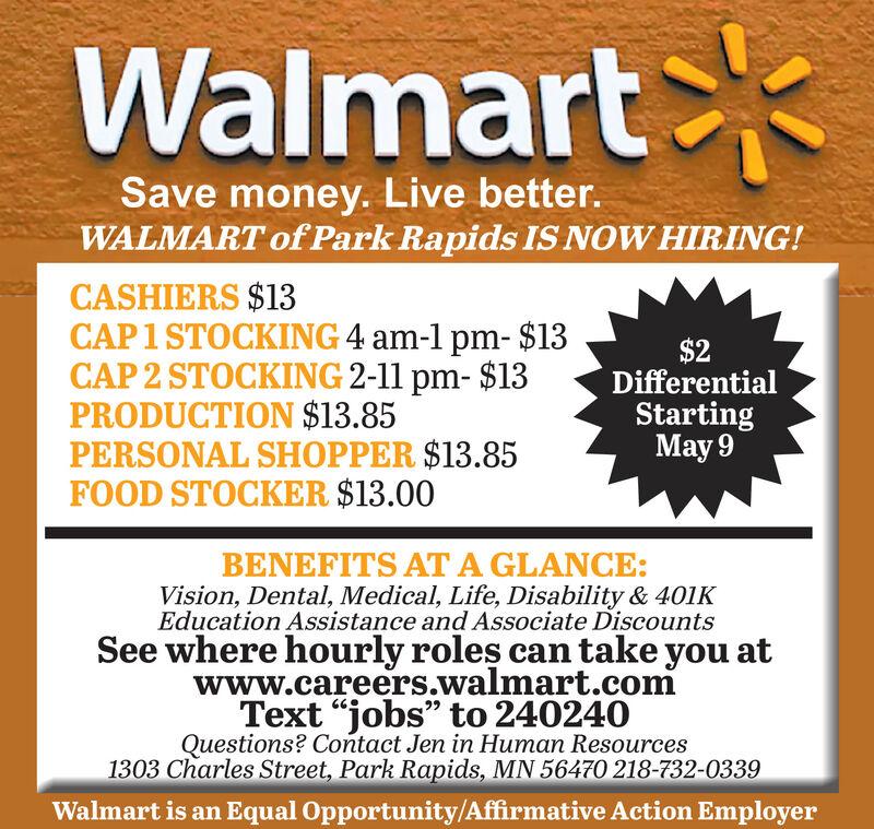 FRIDAY, JULY 10, 2020 Ad - Walmart - Park Rapids - Park Rapids Enterprise