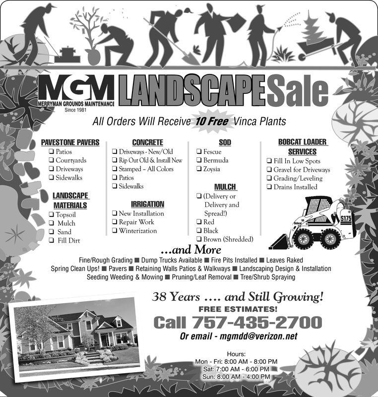Monday July 13 2020 Ad Merryman Grounds Maintenance The Virginian Pilot