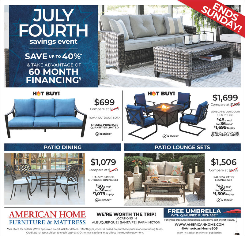 Wednesday July 7 2021 Ad American, American Furniture And Mattress Albuquerque