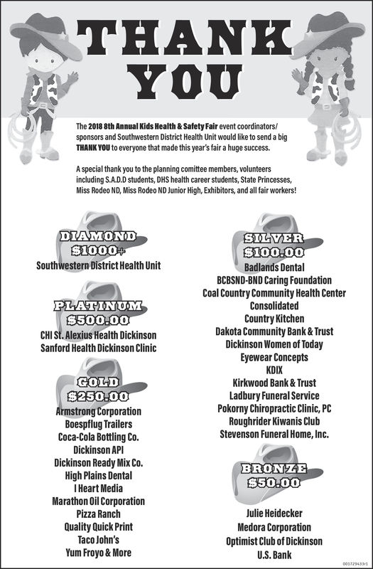 Saturday May 12 2018 Ad Southwestern District Health Unit The Dickinson Press