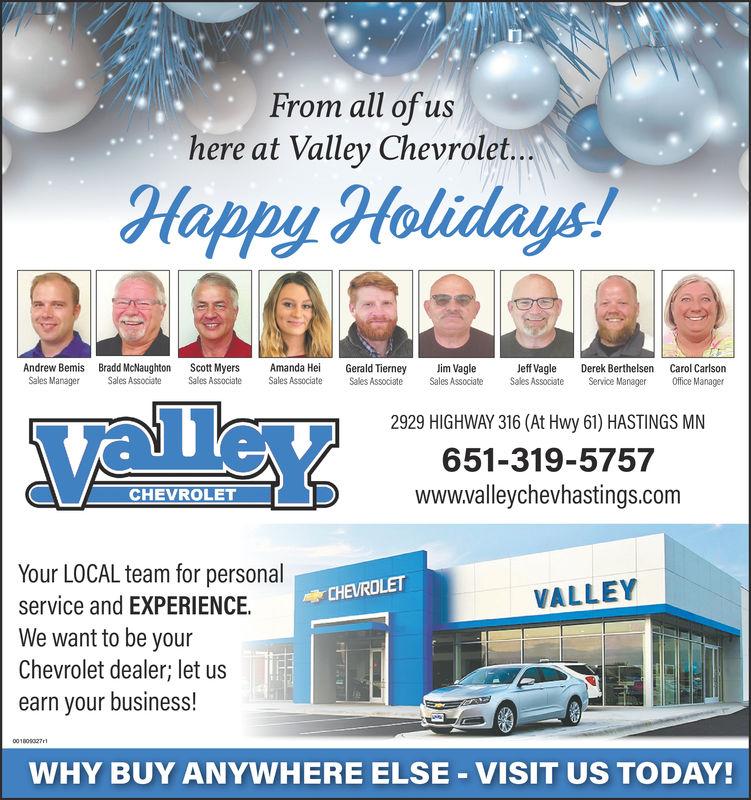Sunday December 23 2018 Ad Valley Chevrolet Rivertowns
