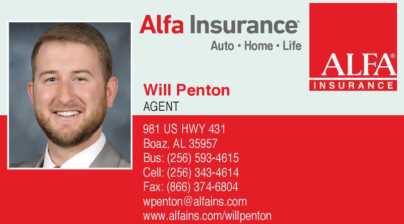 Monday February 18 2019 Ad Alfa Insurance Will Penton Sand Mountain Reporter