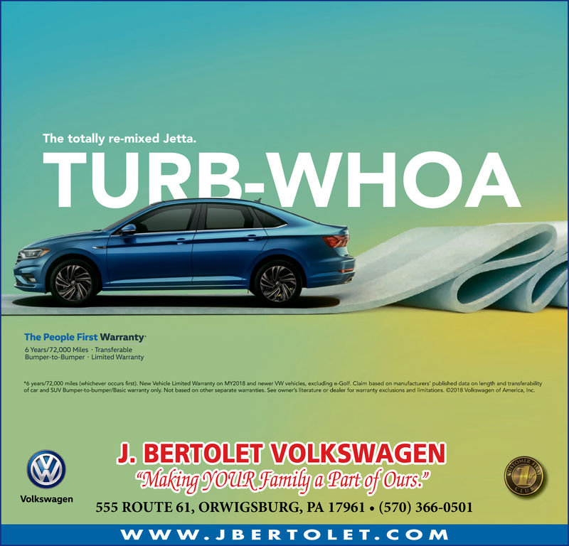 wednesday march 6 2019 ad j bertolet volkswagen the republican herald the republican herald business directory