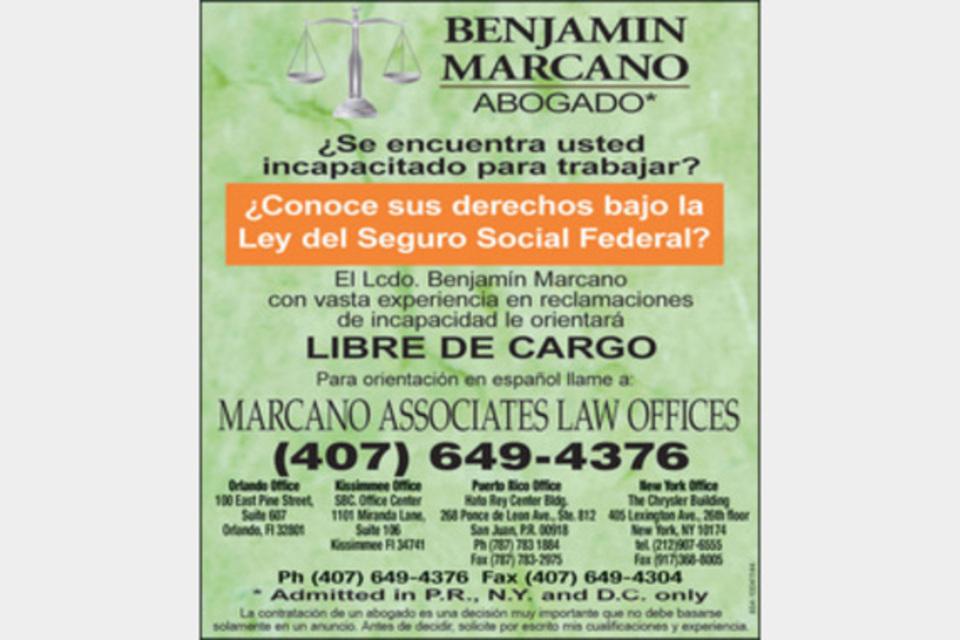 Benjamin Marcano & Assoc - Legal - Attorneys in Orlando FL