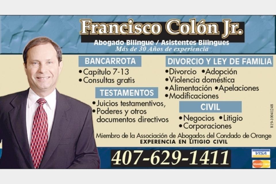 Francisco Colon JR. - Legal - Attorneys in MAITLAND FL