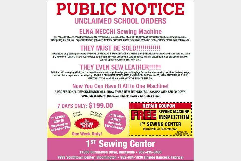 First Sewing Center - Shopping - Hobbies and Crafts in Bloomington MN