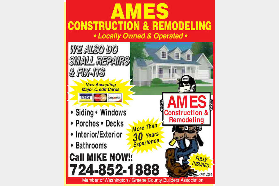 Ames Construction & Remodeling - Services - Residential Contractors in Waynesburg PA