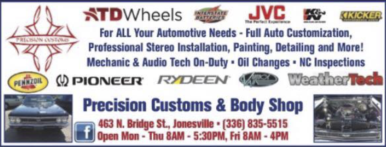 Precision Customs & Body Shop - Auto - Essential Business in Elkin NC
