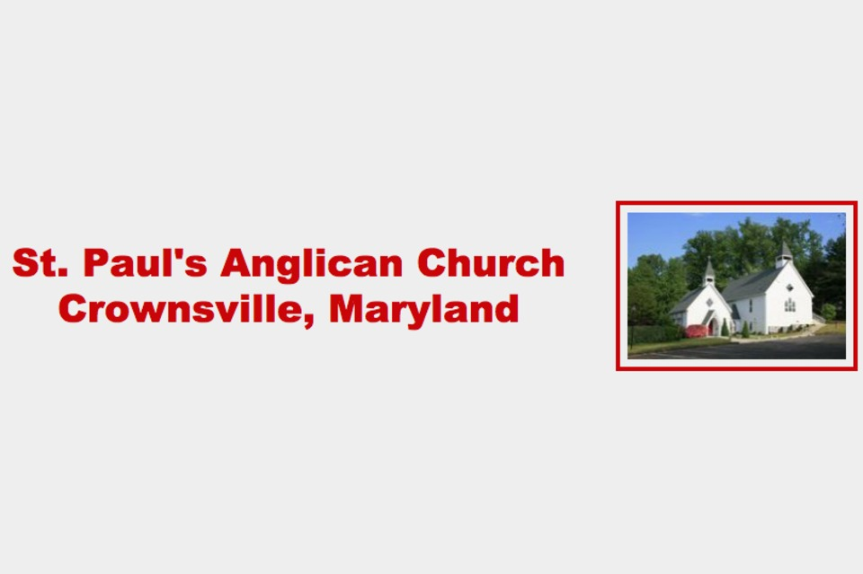 St. Paul's Anglican Church - Religion - Churches in Crownsville MD