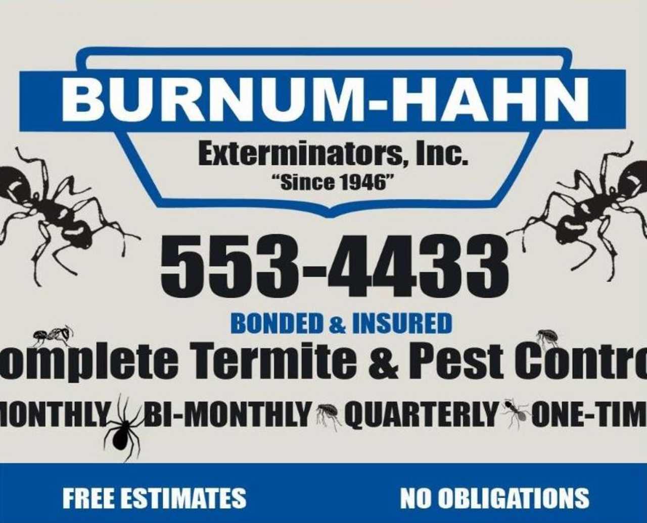 Burnum-Hahn Exterminators, Inc - Services - Pest Control Services in Tuscaloosa AL