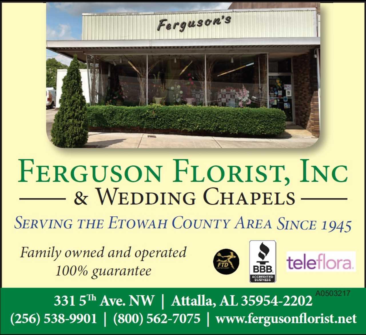Ferguson Florist, Inc & Wedding Chapels - Shopping - Florists in Attalla AL