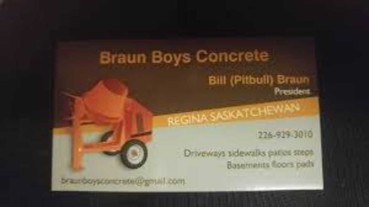 Braun Boys Concrete - Shop Local - Essential Business in Waterloo ON